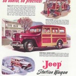 Reklama samochodu Jeep Station Wagon MY, 1947 r.
