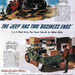 Two Business Ends, historyczna reklama Jeep'a, ok. 1946 r.