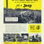 Reklama Willys Jeep CJ2A - lata '50